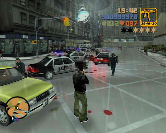 Grand Theft Auto, a quintessential American video game.