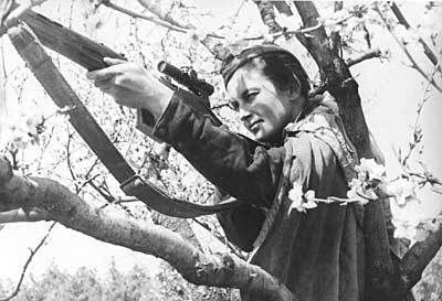 Lyudmila Pavlichenko was one of the top 10 Soviet snipers of WW2, with 309 confirmed kills.