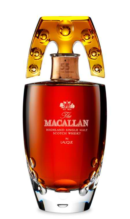 Single malt whiskeys, such as Macallan, are considered the cream of the crop.