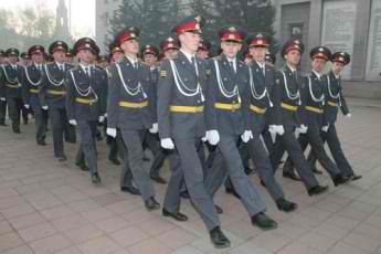 On the positive side, Russia's police have excellent fashion sense.