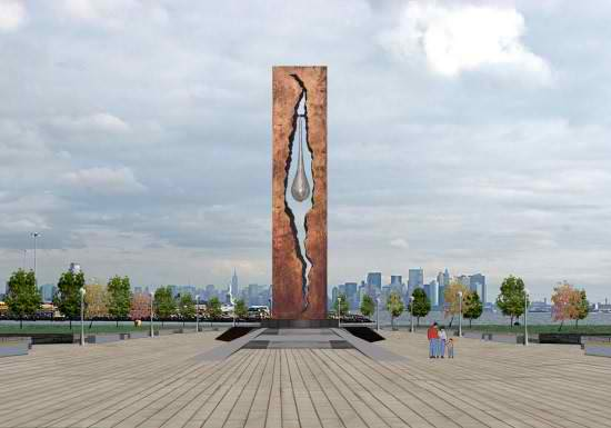 "9/11 monument, ""The Tear of Grief"", by Zurab Tsereteli, an ethnic Georgian who is Russia's most prominent architect. Gifted to the US."
