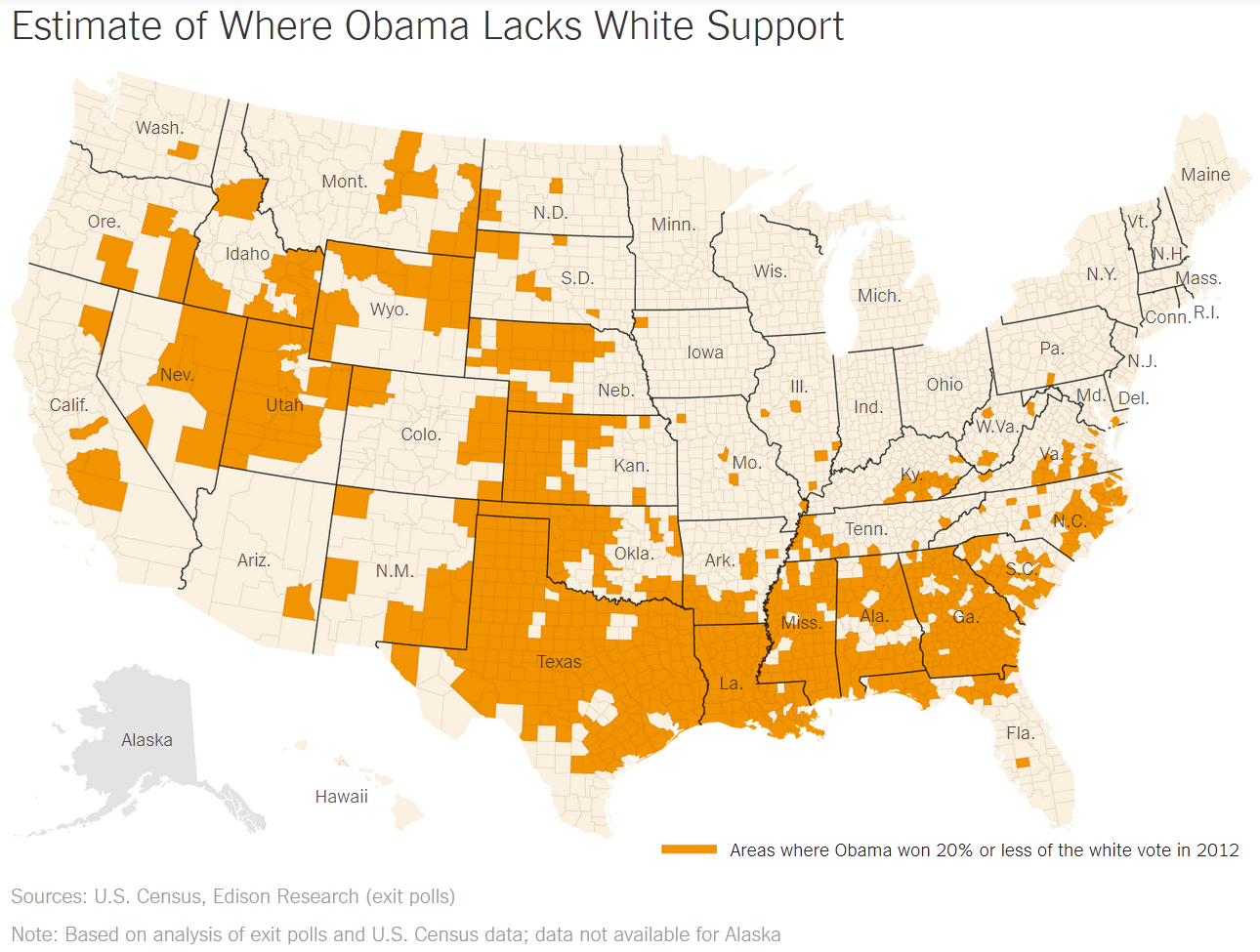 White Vote County US
