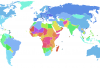 """Fertility rate world map 2\"". Licensed under Public domain via Wikimedia Commons."