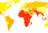 Chlamydia infection rate, by country (WHO 2004) Credit: Wikimedia Commons
