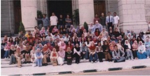 Cairo University class of 2004, lots of headscarves