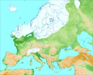Europe during the last glaciation