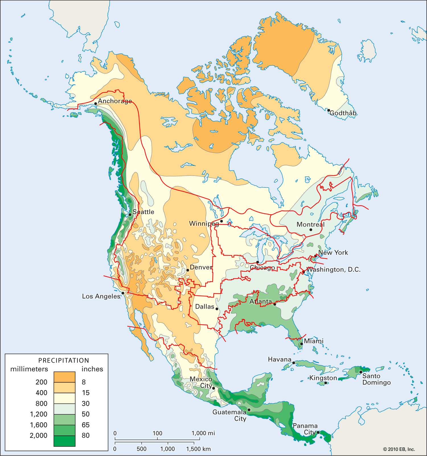 north american nations precip