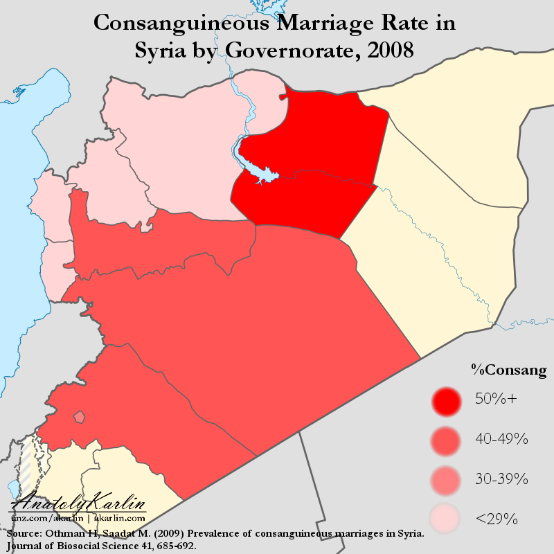 syria-map-rate-of-consanguineous-marriage