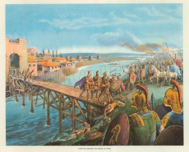 Horatius Defends the Bridge at Rome.  Credit: VDare.com.
