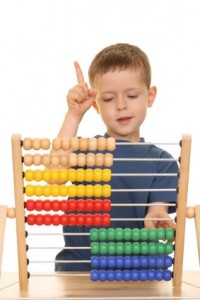 Flynn effect boy-and-abacus