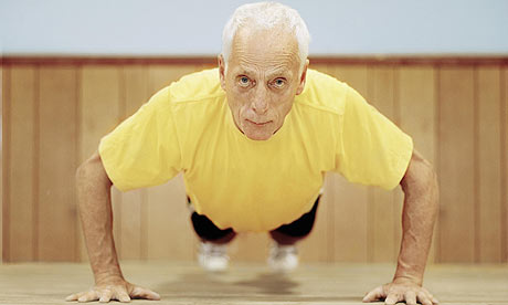 old person pushups