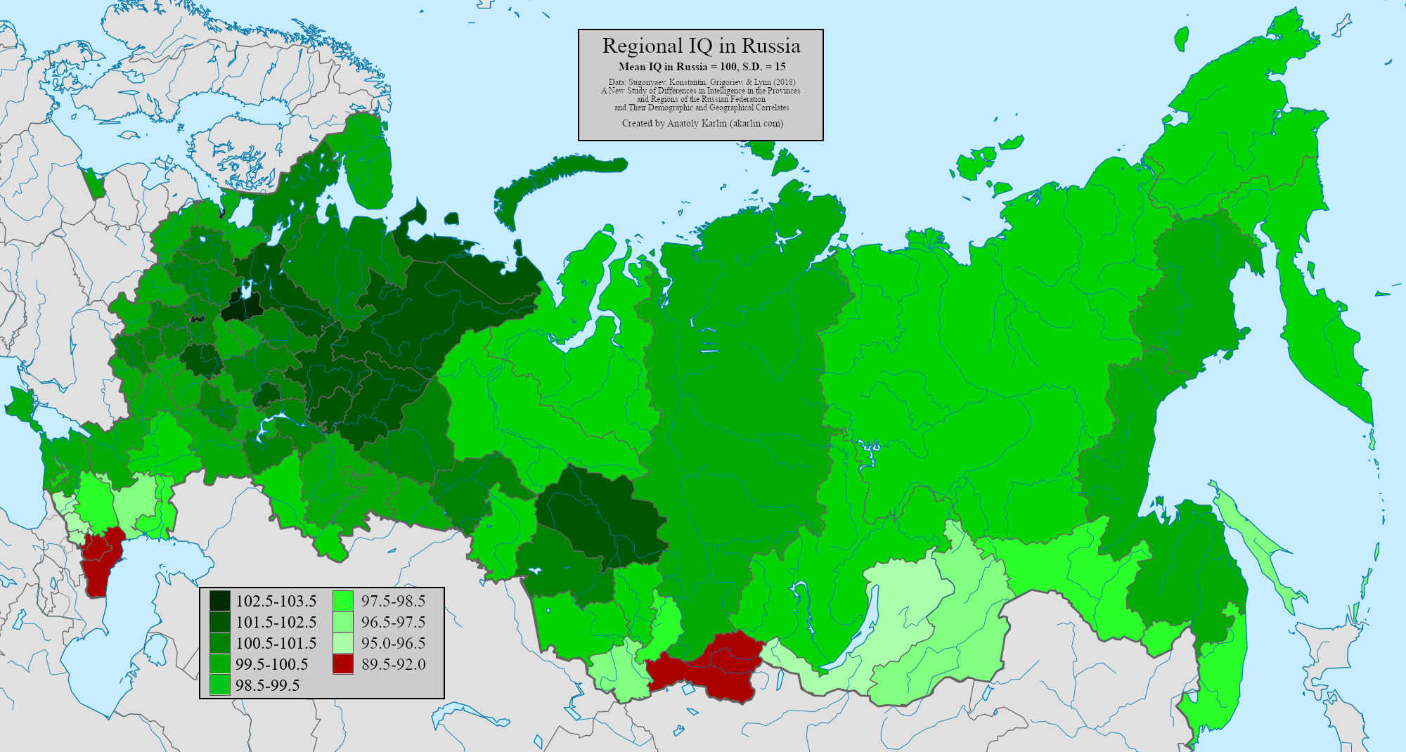 Largest Survey of Russian IQ Yet, by Anatoly Karlin - The ...