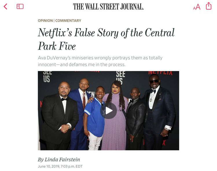 While We Can Still Say It—THE CENTRAL PARK FIVE COMMITTED A GANG