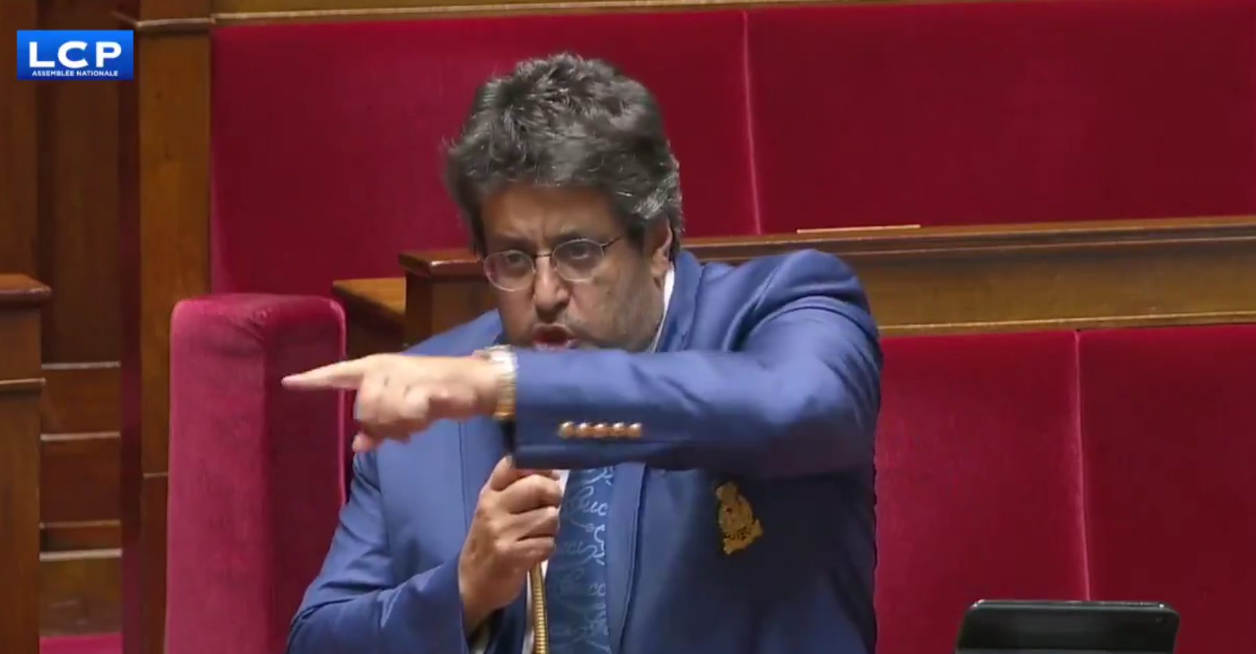 Meyer Habib in Parliament, demanding gentiles be prosecuted for their thoughts