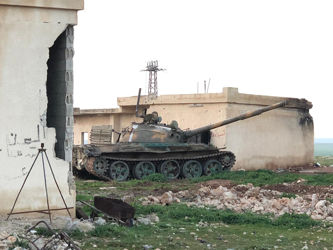 Syrian tank near Idlib facing Uyghurs and other terrorists