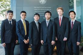 2018 Math Olympiad, US First! Team: Adam Ardeishar, Andrew Gu, Vincent Huang, James Lin, Michael Ren and Mihir Singhal.