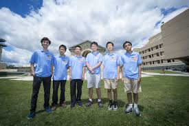 2017  Another win! Members of the first-place 2017 U.S. team: Ankan Bhattacharya, Zachary Chroman, Andrew Gu, Vincent Huang, James Lin, and Junyao Peng.