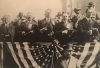March 1919 post-WWI military parade.  New York Gov. Al Smith (far left), Bill Hearst (center), Franklin Roosevelt (far right).