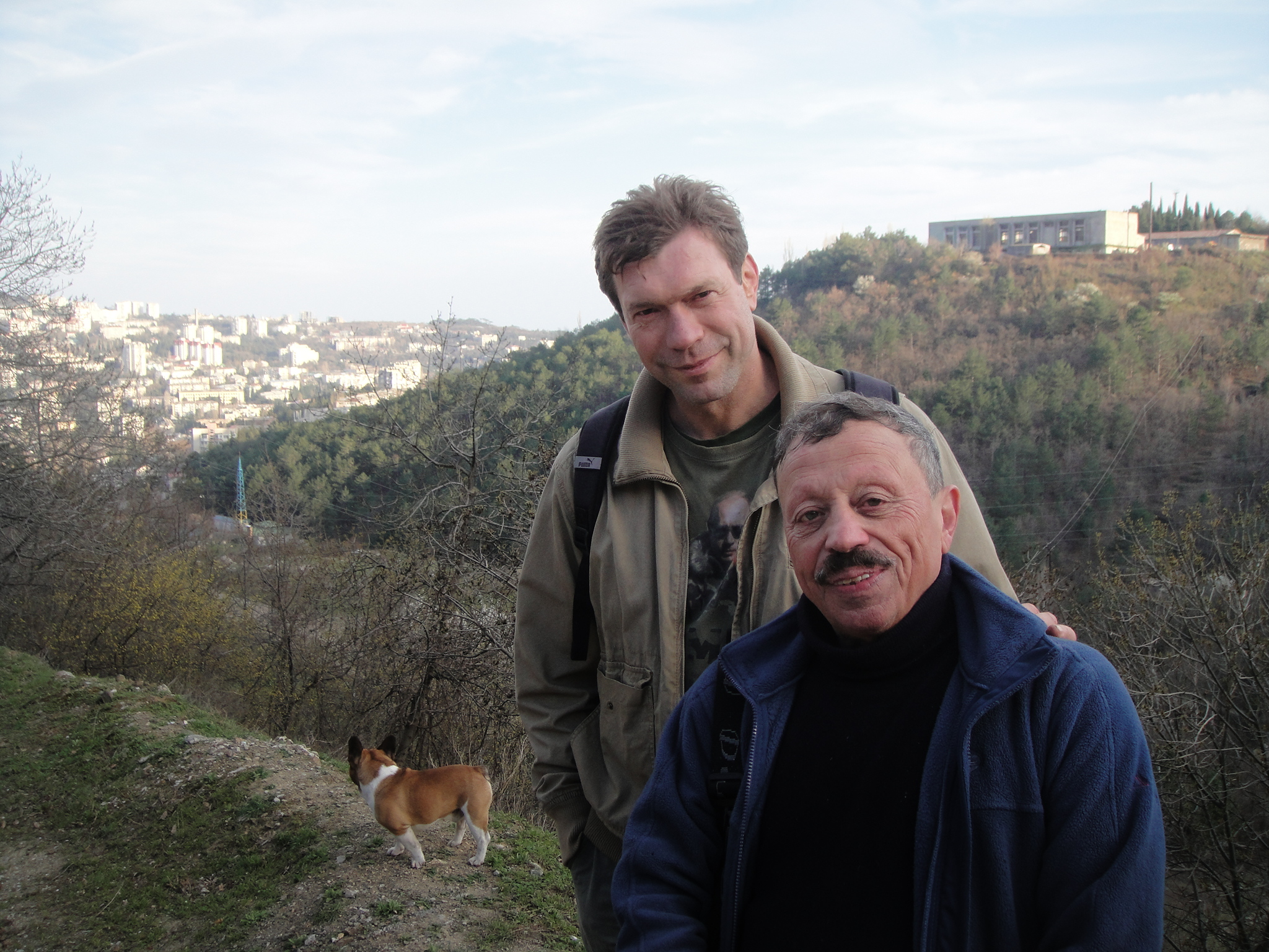 Mr. Tsarev with Israel Shamir in Crimea