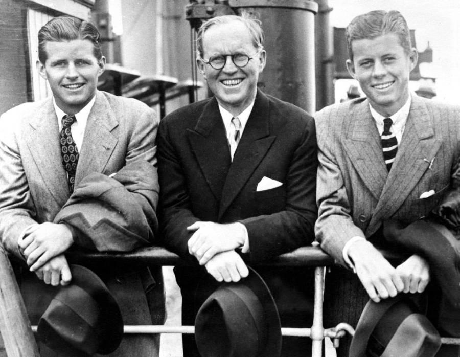 Joseph Jr., Joseph Sr., and John Kennedy in 1938