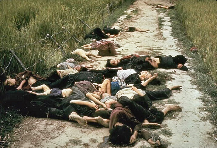 My Lai, after Lt. Calley of the SS Totenkopf Div…excuse me, the Americal Division, I meant to say, brought human rights, freedom, and the American way.