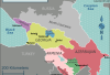 Map of Caucasus. Credit: Wikimedia Commons/Travelpleb.  CC BY-SA 4.0