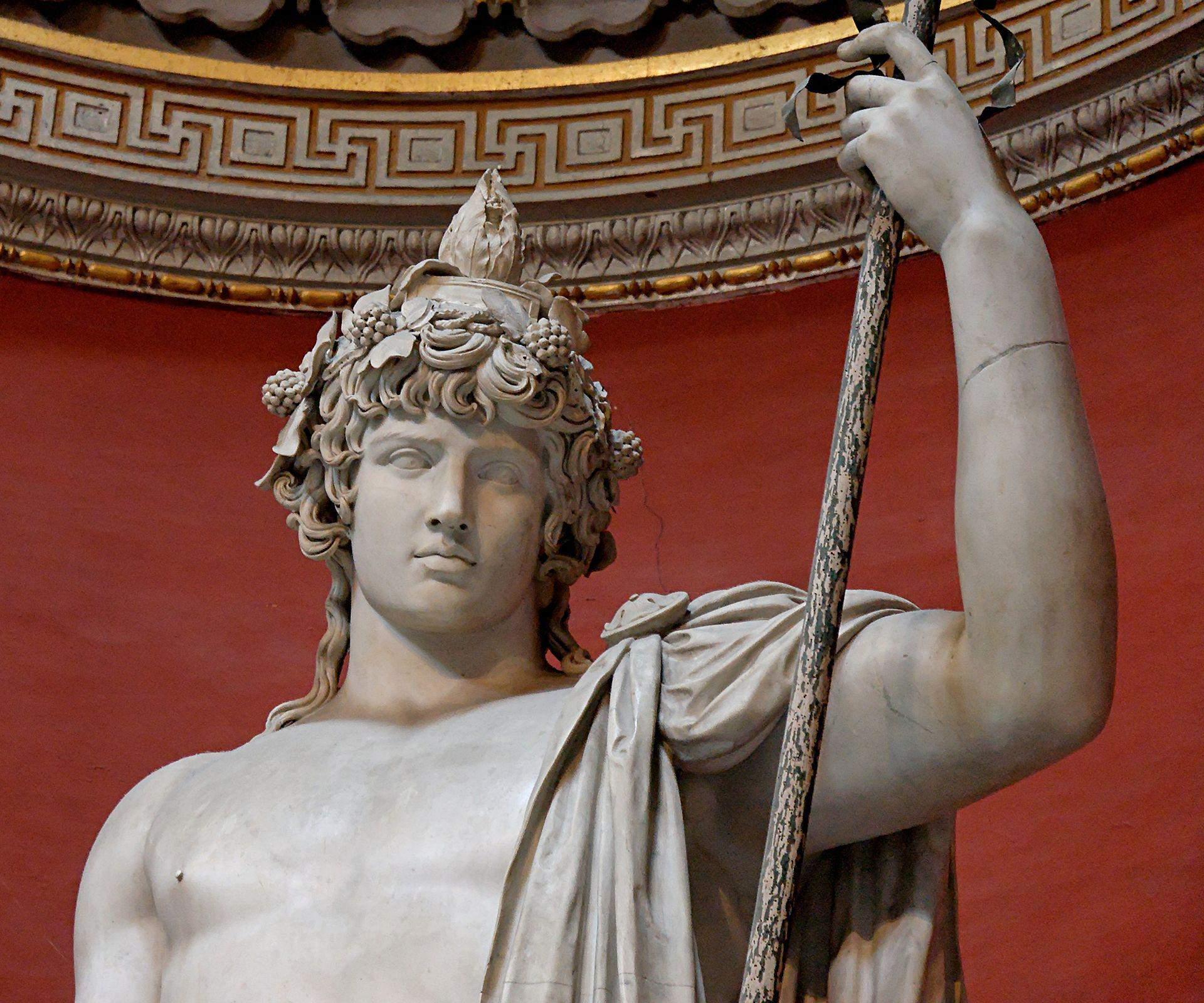 Antinous as Bacchus, colossal sculpture presumed to have been from Hadrian's villa in Palestrina
